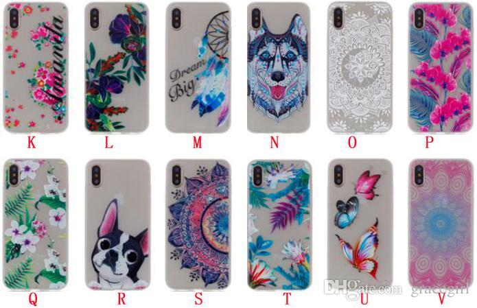 Bling Glow in dark Flower Tree TPU Soft Case For Iphone X Samsung Galaxy NOTE8 J3 J5 J7 2017 Huawei Y3 Y5 Honor 9 Sony L1 Luminous Cover