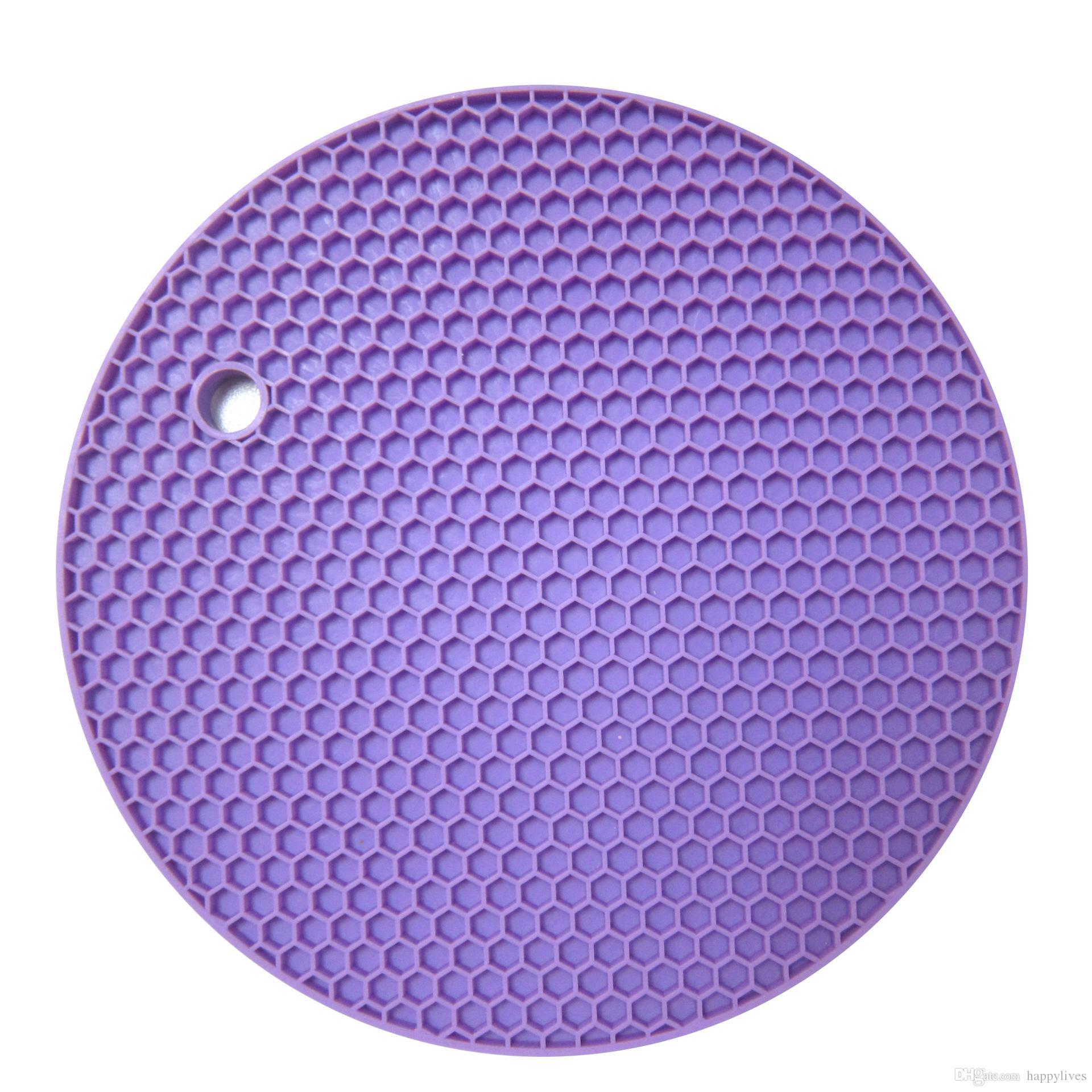 Tabela Almofada De Silicone De Silicone Não-slip Resistente Ao Calor Mat Coaster Almofada Placemat Pote Titular Acessórios de Cozinha Utensílios de Cozinha