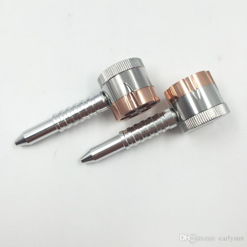 dual purpose Revolver Pipe grinder six shooter pipe 12cm smoking tobacco pipe herb grinder smoking pipes.ES-GD-040