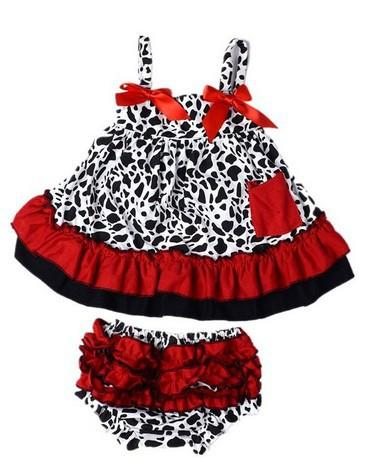 Summer babies outfits Baby girls Halter top+PP pants suspender vest Bow Leopard Print sets kids cotton clothing E1039