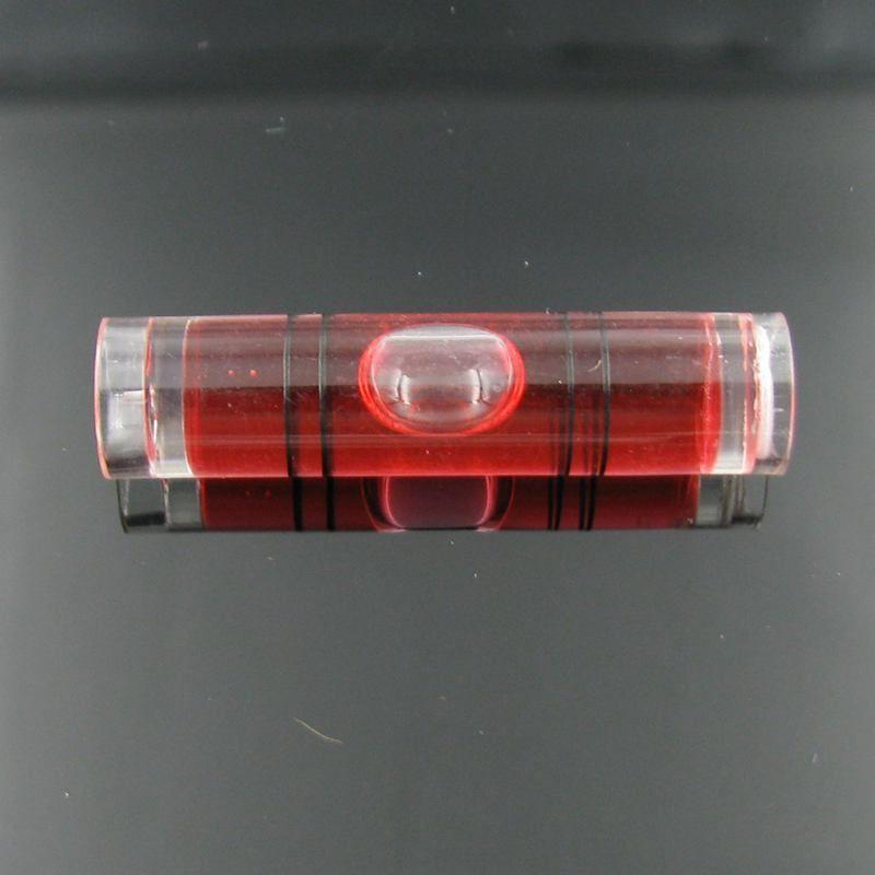 25 teile / los 9,5 * 40 mm Kunststoffrohr Ebene Wasserwaage Bubble Vier farbe