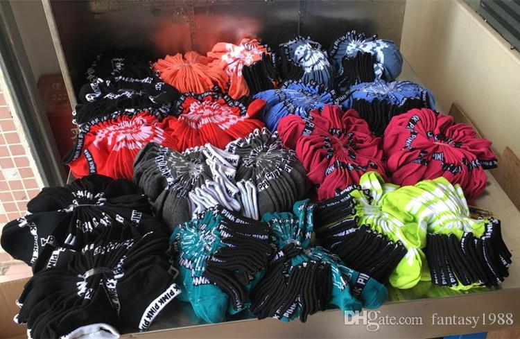 Pink Style Boys & Girls' Adult Short Socks Men & Women Football Cheerleaders Basketball Outdoors Sports Ankle Socks Free Size