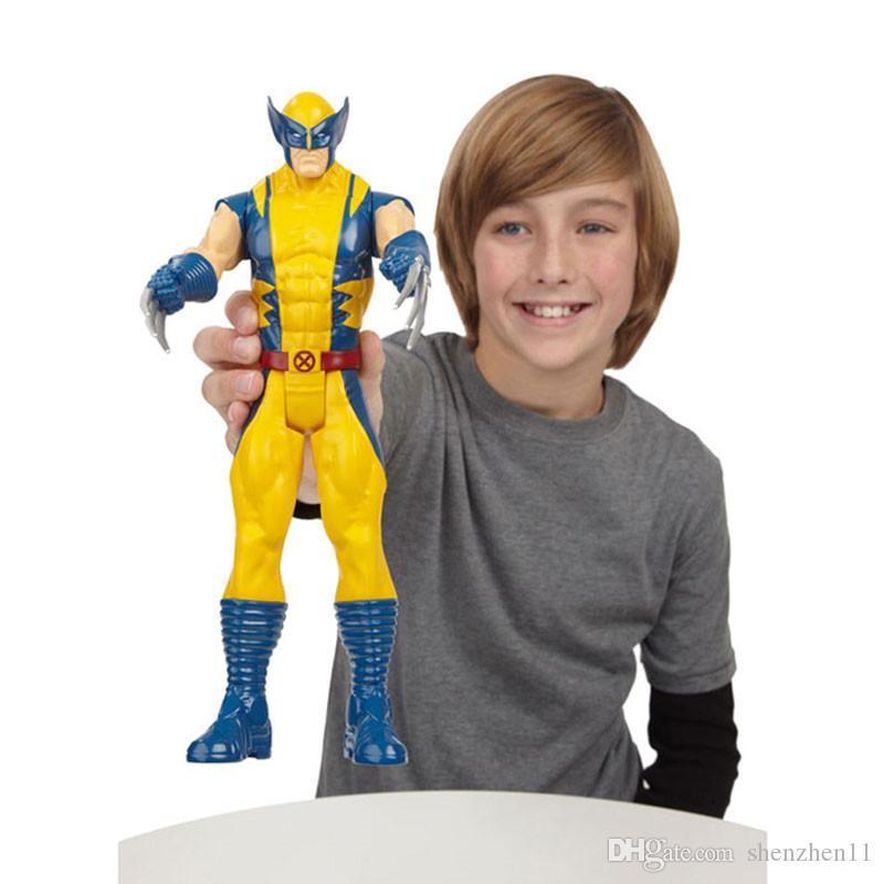 The Avengers PVC Action Figure Marvel Heros 30 cm Iron Man Spiderman Captain America Ultron Wolverine Figure Giocattoli OTH025