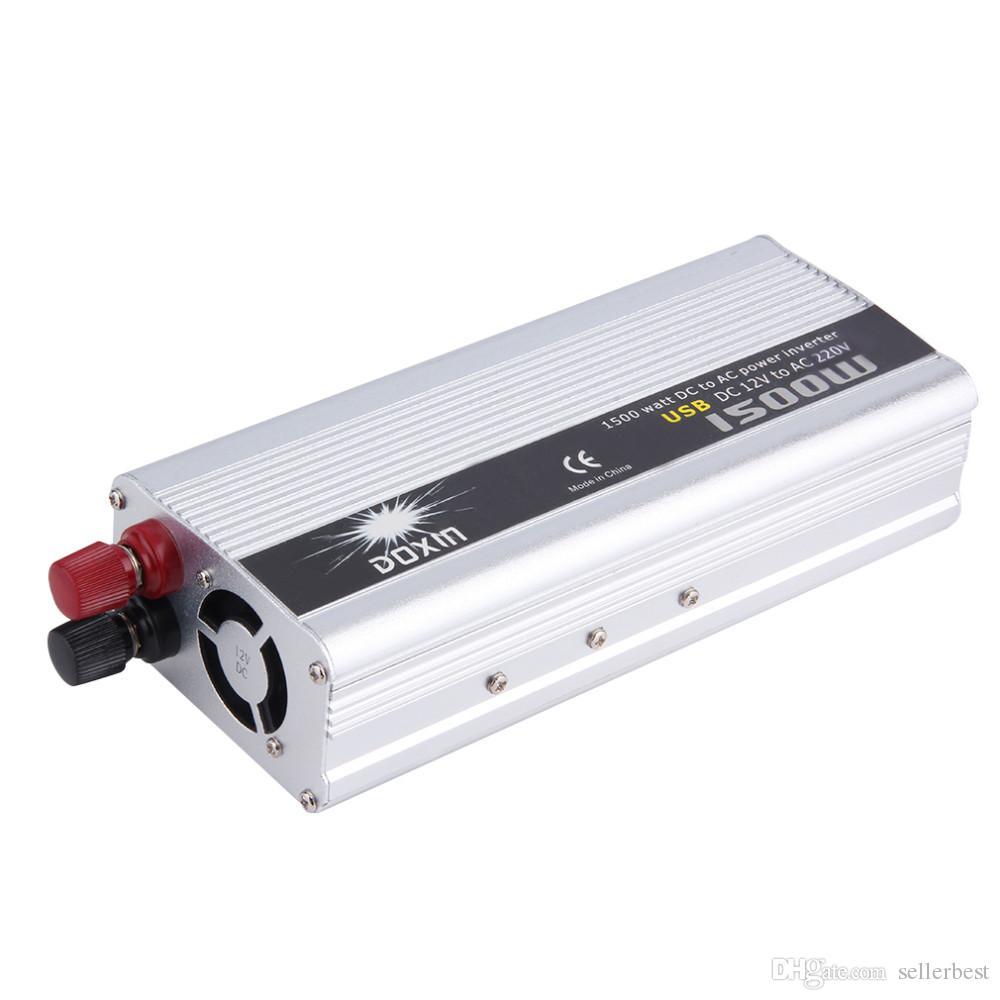 Carregador de carro 1500 W WATT DC 12 V para AC 220 v Car Power Inverter Conversor Transformador de Alimentação quente venda