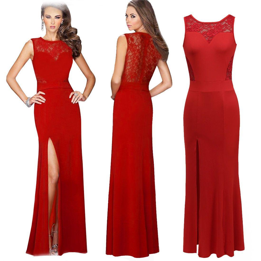 Fashion Evening Dresses Long 2016 Red Black Formal Evening ...