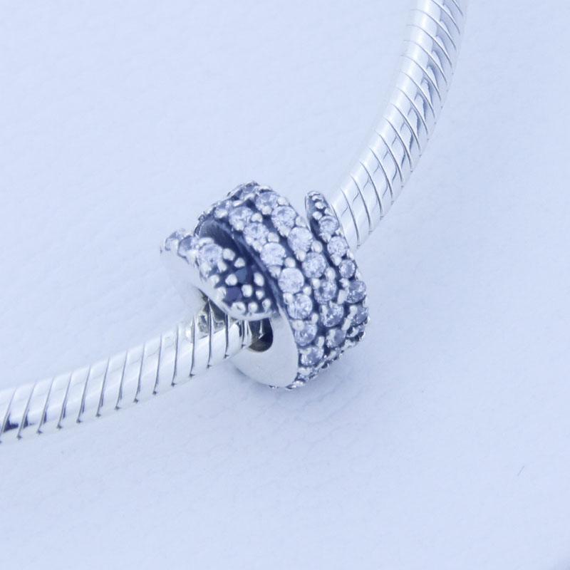 100% 925 sterling silver beads prata sparking snake charme serve para pandora jóias pulseiras colar 2016 presentes de natal / lote