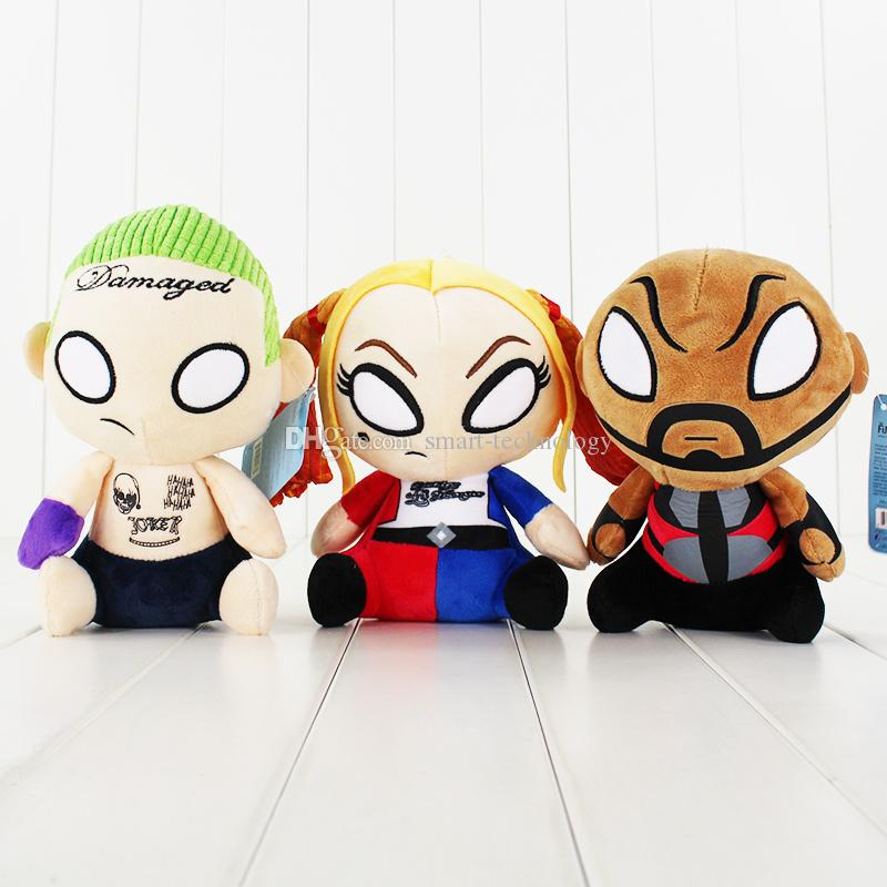 18-20cm Movie Suicide Squad Harley Quinn Clown Plush Doll Stuffed Toys for Children Kids Gift Free shipping retail