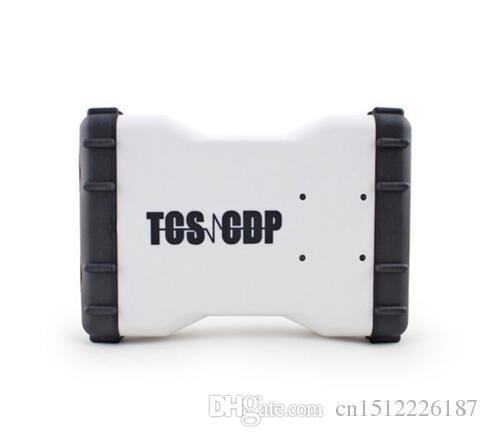 Novo Design 2016.0 softwareTCS CDP OBD2 Scanner Com Mais Novo Branco TCS CDP Pro Novo VCI para carros e caminhões Preço Barato e navio livre