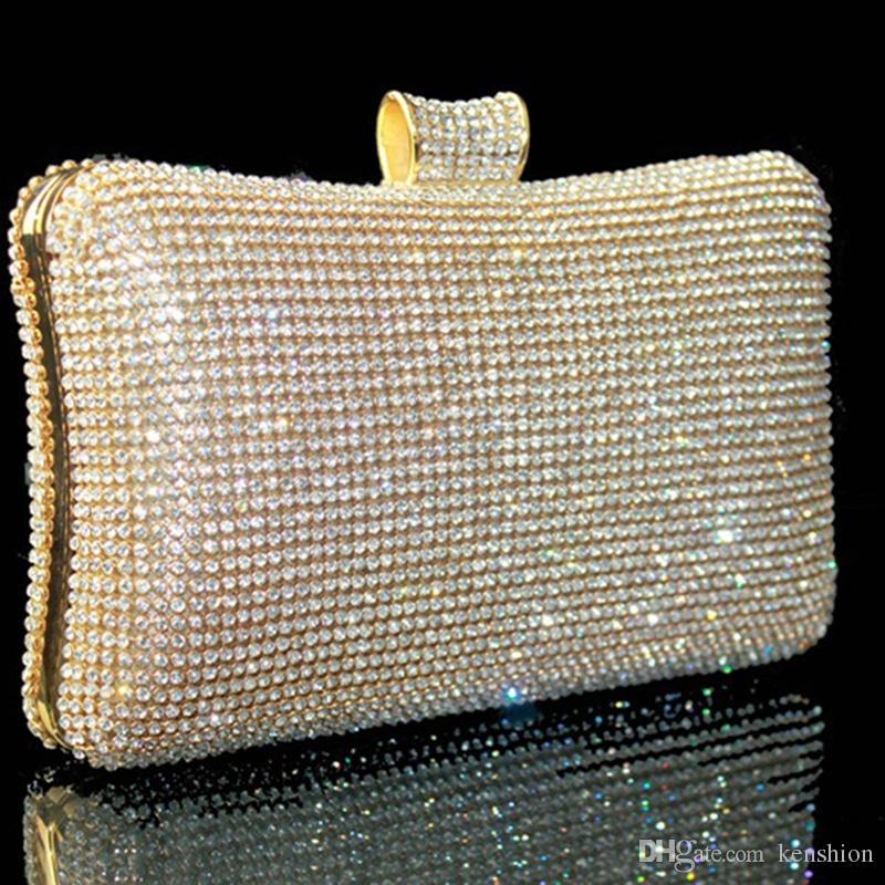 Sıcak Kraliyet kadın Lady Moda Swarovski Kristal Akşam Debriyaj Çanta Çanta Çanta Omuz çantası Düğün Gelin Çanta Aksesuarları - DT3296