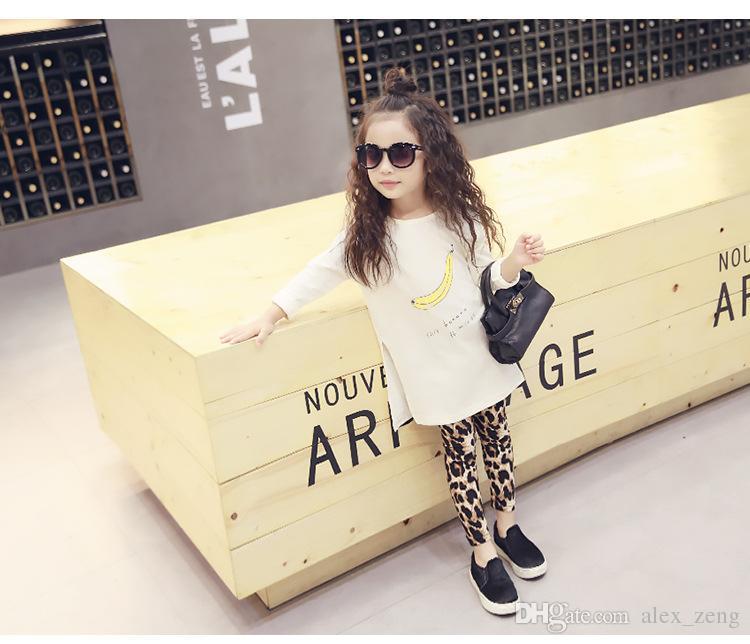 2016 New Fashion Neonate Leopard Leggings Bambini Casual Long Pencil Pants Tight Dresses Leggings Boot Bambini Gonne Legging