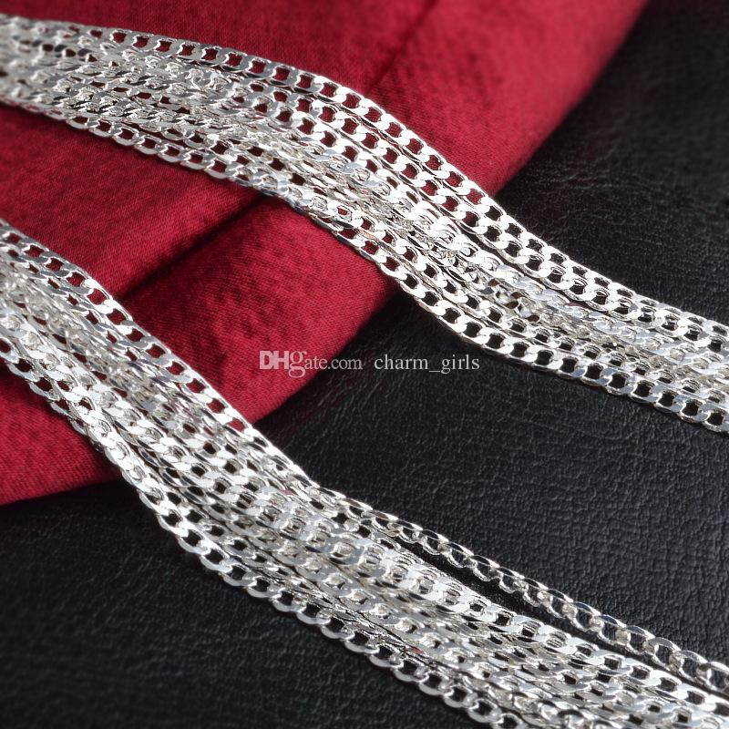 2016 Hot sales 2MM 16' 18' 20' 22' 24' 26' 28' 30' 925 Silver Chain Necklace High Quality with