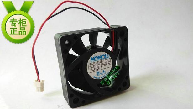 NONOISE 50 * 50 * 15 G5015S12D CS DC12V 0.080A 5CM 2 fio ultra silencioso ventilador de refrigeração