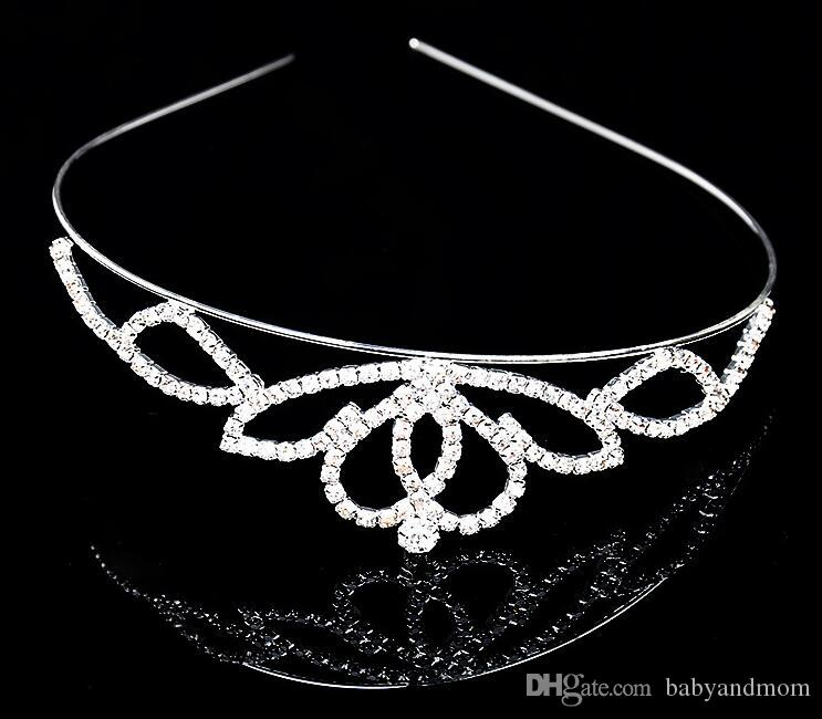 2016 Couronne diadèmes de Noël pageant princesse d'anniversaire de mariage / fête de haute qualité cristal argent diadème couronne