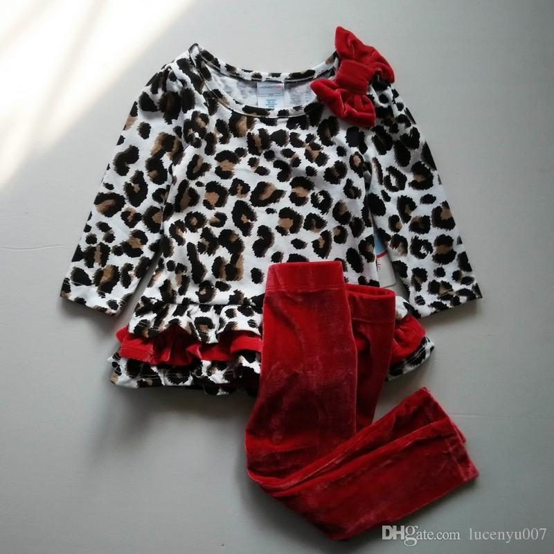 Babykleding Baby.2019 0 4y Children Babykleding Baby Suit Girls Sets Leopard Tops