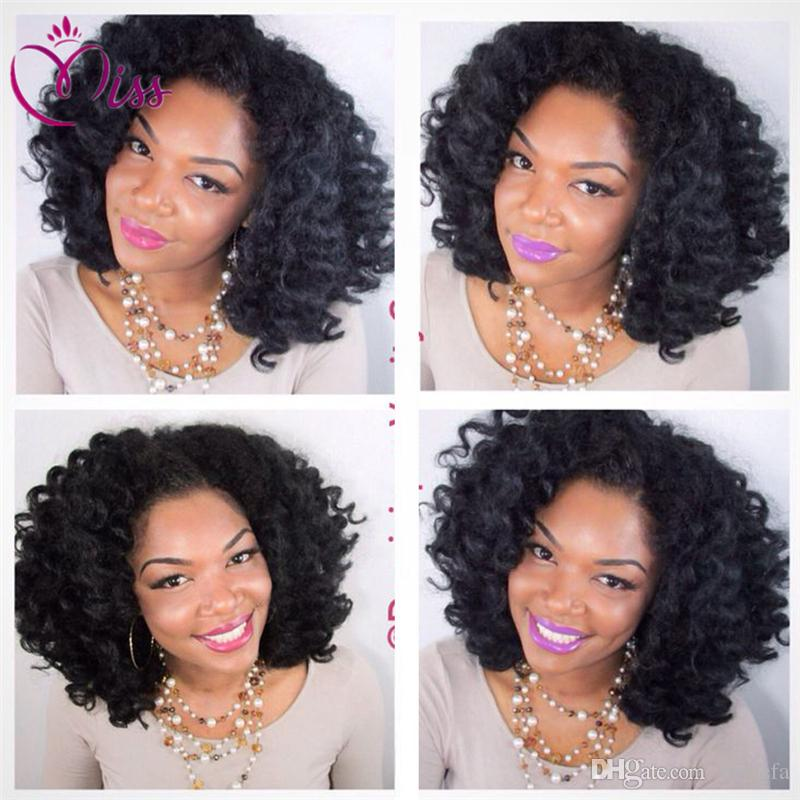 So Beautiful Deep Curly Full Lace Human Hair Wigs For Black Woman 180 Density Brazilian Hair deep Curly Lace Front Wig Baby Hair
