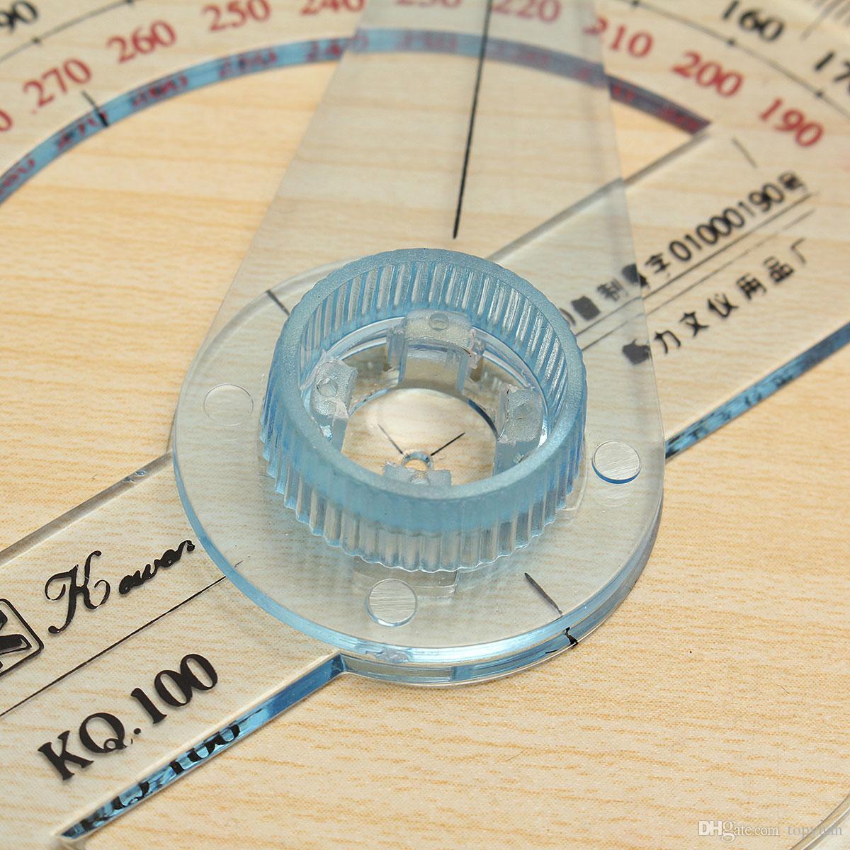 10 cm Plastik 360 Derece İletki Cetvel Açı Bulucu Salıncak Kolu Okul Ofis