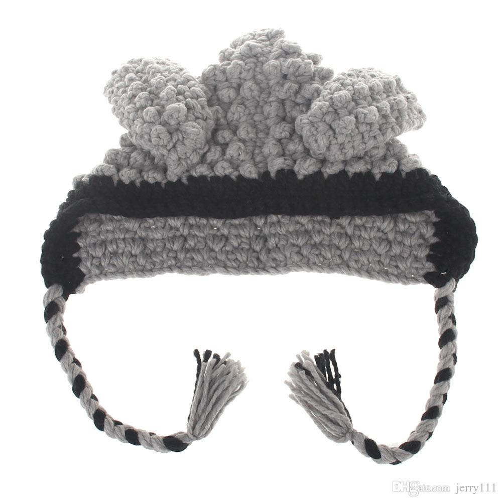 INS Baby BUNNY EARS Hats Handmade Kids Winter Hats Wrap Lamp Caps Cute Autumn Children Wool Knitted Hats LC651