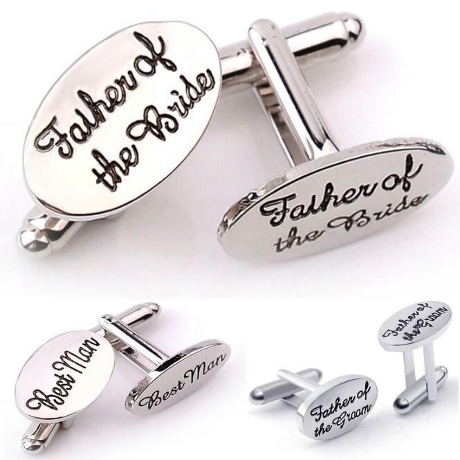 2018 letter cufflinks silver plated oval handstamped father of the groom bride french shirt cuff links fathers wedding christmas gift from duole