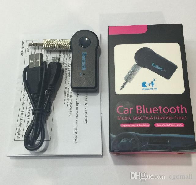 مع صندوق البيع بالتجزئة العالمي 3.5MM يتدفقون سيارة A2DP بلوتوث اللاسلكية محول V3.0 EDR AUX الصوت الموسيقى استقبال