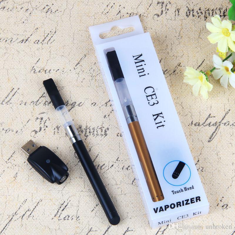 Sıcak satış Mini CE3 Blister Kiti Buharlaştırıcı tomurcuk Dokunmatik Pil 280 mah CE3 510 Kartuş buharlaştırıcı tankı vape kalemler E Sigara Blister Kitleri
