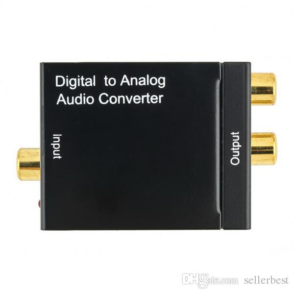 Digital Adaptador Óptica Coaxial RCA Toslink a Cable de Adaptador Convertidor de Audio Analógico