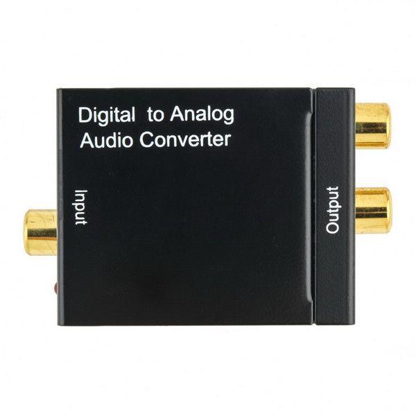 Digital Adaptador Óptico Coaxial RCA Toslink Sinal para Analógico Áudio Converter Adapter Cable