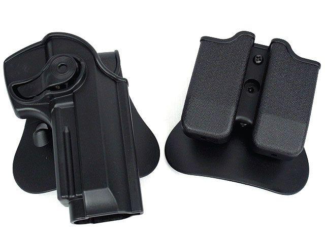M92 Airsoft ht027를위한 전술 총 집게 molle 잡지 주머니 방위 권총과 잡지 권총