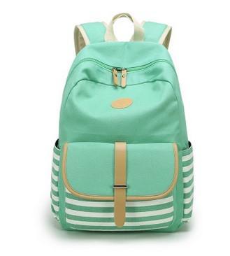 Bolsas de escuela Limited 2016 Mochila de rayas azul marino, The New Canvas Bag, Students Backpack Bag. Tela de alta calidad. Super gran espacio práctico.