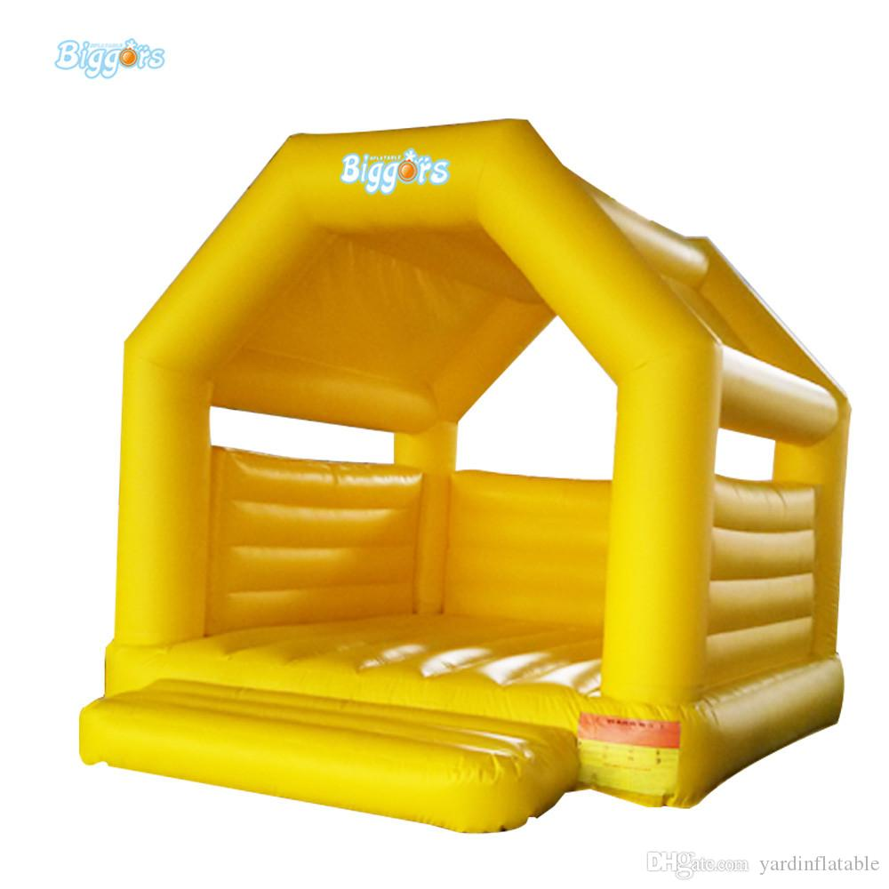 Customized Color Outdoor Or Indoor Durable PVC Material Kids Inflatable Mini Bouncy Castle With Air Blowers