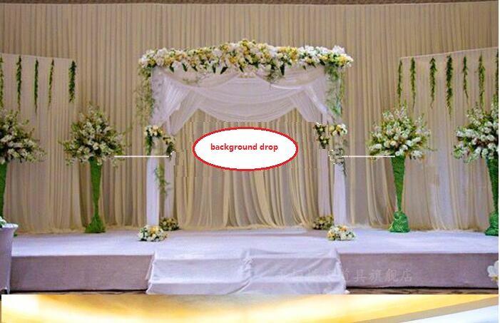 Sfondo drop Wedding Party Stage Celebration Background Satin Curtain Drape Pillar Soffitto Fondale Marriage decoration Veil WT031