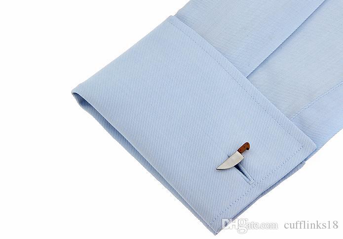 Envío gratis Personalidad Diseño Hombres Cuchillo Gemelos Novedad Cuff Nail Gemelos Hombres de Alta Calidad Camisa de Cobre Gemelos 960061