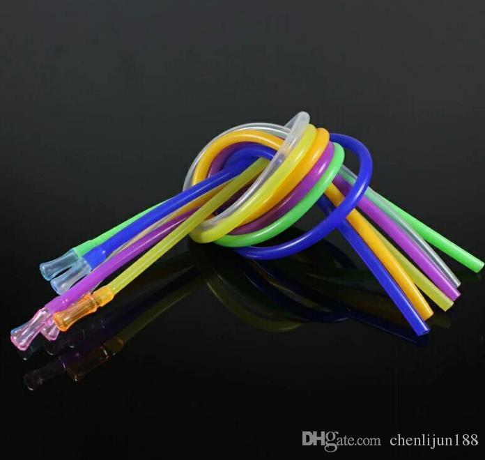 Шланг шланг + кусать рот шланг 50 см, цвет, стиль, случайная доставка, водопровод, стеклянные бонги, стеклянные кальяны, курительная трубка