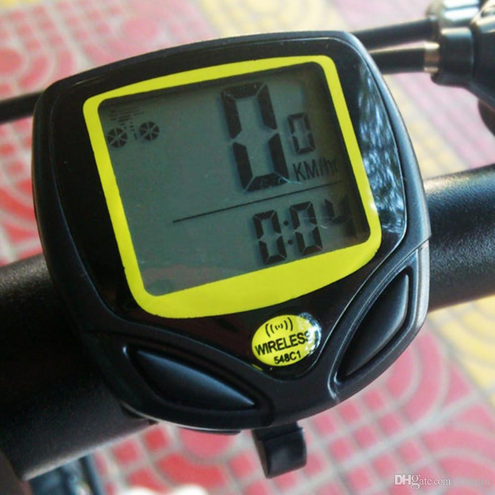 SD-548C 1 Takım Su Geçirmez Kablosuz Bisiklet Bisiklet Spor Bisiklet Bilgisayar Kilometre Kilometre Sayacı Sıcak Satış