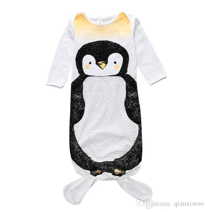 Ins Infant Baby Sleep Bag Sleepwear Clothes Kids Pajamas Toddler Baby Cartoon Animals Printed Sleeping Bag Children Clothing W081