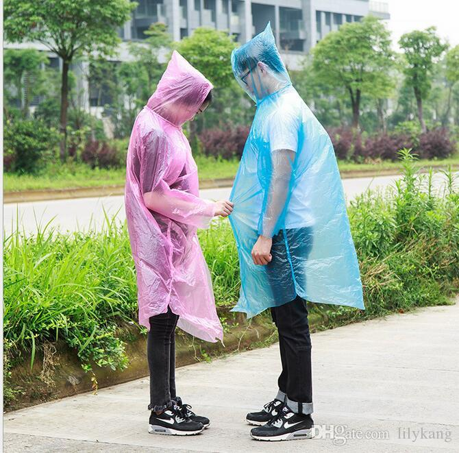 Wholesale Adult Disposable Raincoat Coat Emergency bicycle rain poncho Poncho Camping Plastic Raincoat Travel Rain suit Unisex