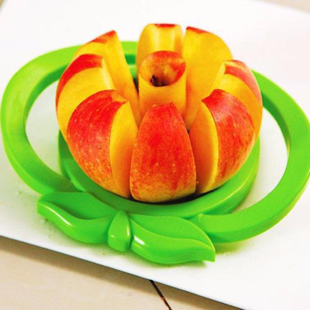 Heißer verkauf nützliche obstschneider durchmesser 9 cm harz edelstahl apple slicer apple cutter gemüse werkzeuge küche zubehör