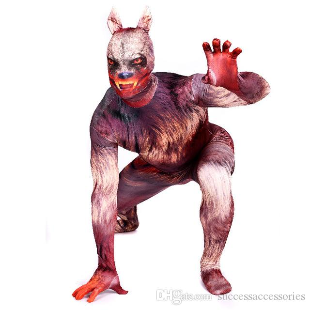 Discount Halloween Adult Kids Werewolf Costumes Spandex Anime Superhero Cosplay Red Full Body Costume Zentai Suits Bodysuit From China | Dhgate.Com  sc 1 st  DHgate.com & Discount Halloween Adult Kids Werewolf Costumes Spandex Anime ...
