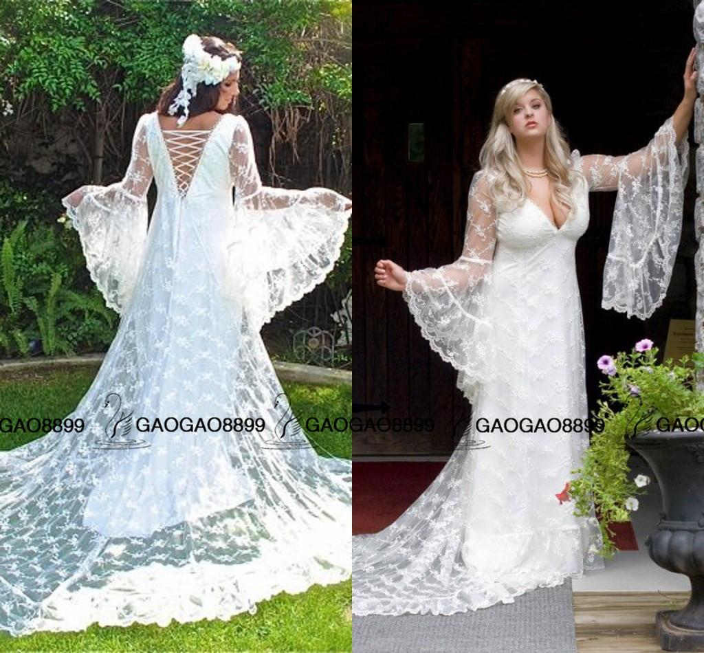 Discount custom made vintage victorian medieval style for Medieval inspired wedding dresses