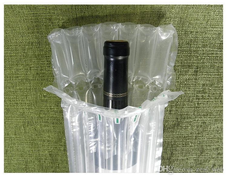 DHL SF EXPRESS 32 * 8cm Air Dunnage Bag Luft gefüllt Schutzweinflasche Wrap aufblasbares Luftkissen Column-Verpackungs-Beutel mit einer freien Pumpe