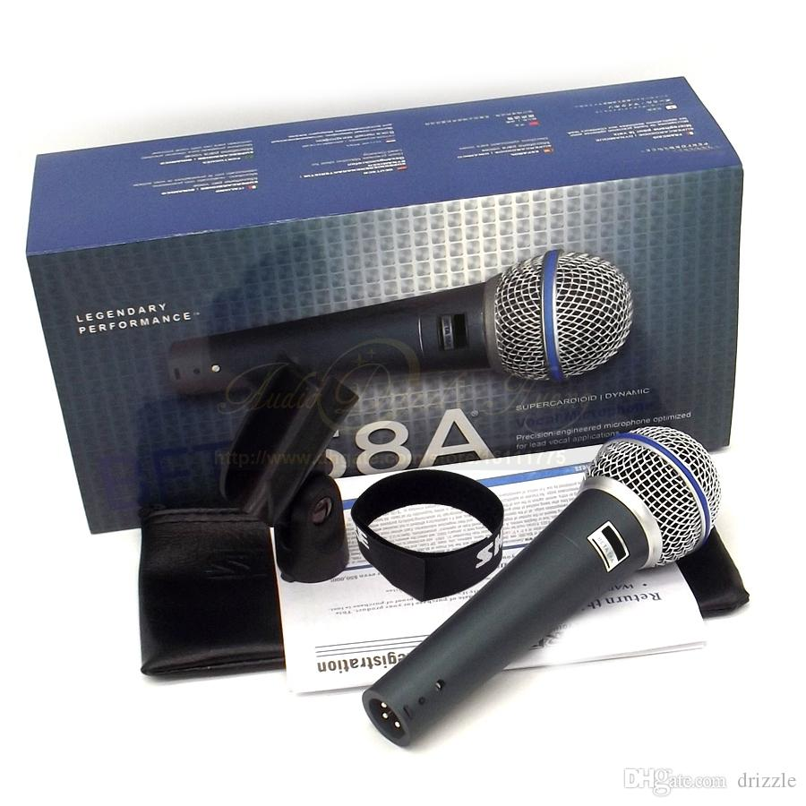 Quality Professional Metal Beta58A Super Cardioid Dynamic Vocal Wired Microphone Karaoke Beta-58A Mike Singing Mic