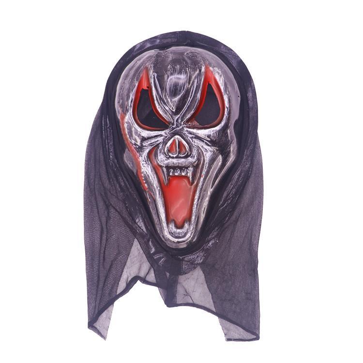 Großhandels-Halloween-Maske Langes Gesicht Schädel-Geist Scary Scream Maske Scary Horror Schreckliche Maske Screaming Witch Full Face