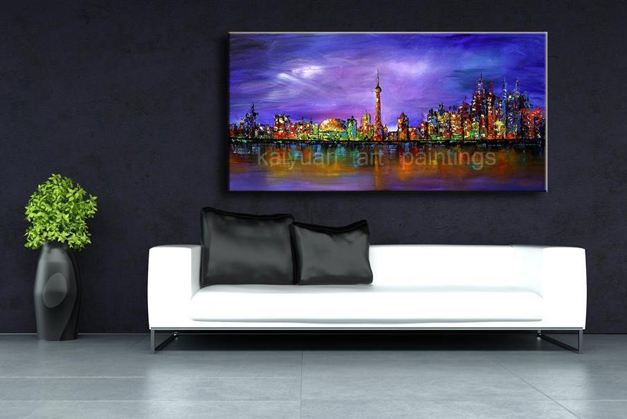 Top Abstract Oil Painting on Canvas Night Scene Art Paints for Home Wall Decor Best Holiday Gifts to Friends or Customers