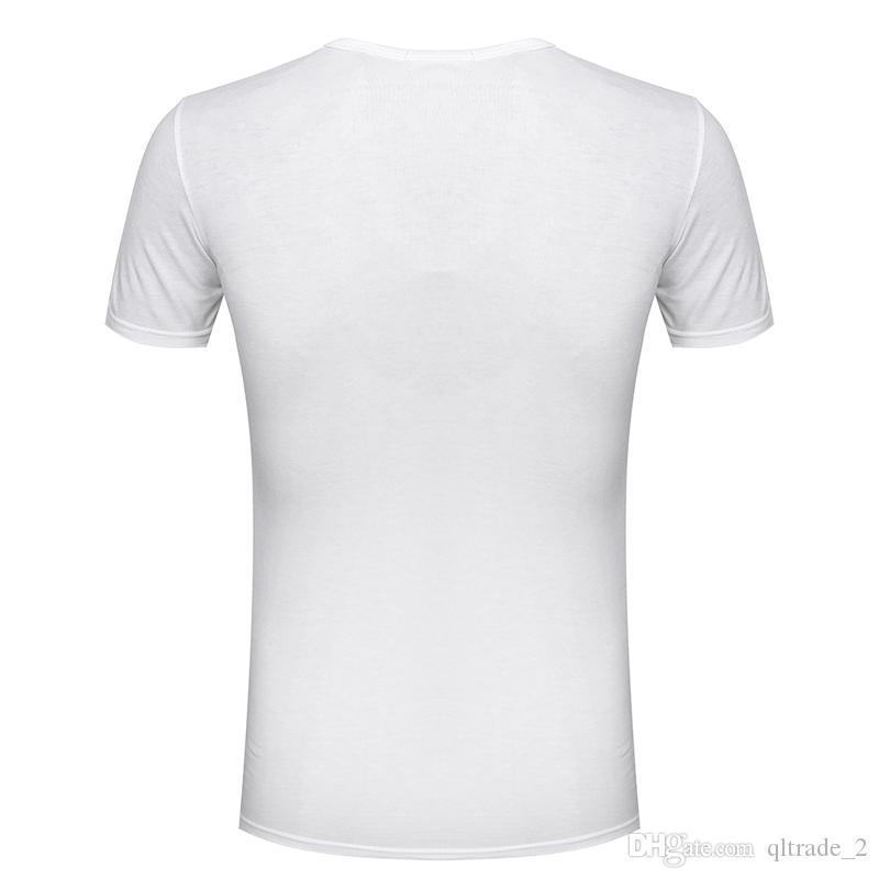 3 cores venda Quente 2016 verão Branco Com Decote Em V de Manga Curta T-Shirt Dos Homens Camisa Curta