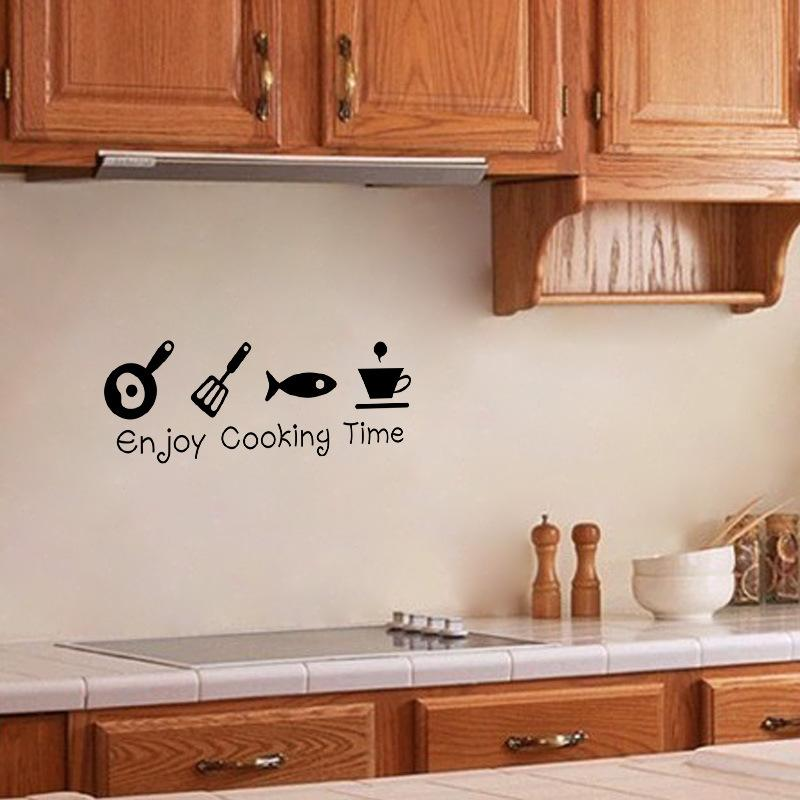 Compre Enjoy Cooking Time Etiqueta De La Pared Pvc Autoadhesiva ...