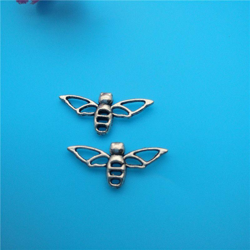 Смешанные Тибетский Серебряный пчела Колибри подвески подвески ювелирные изделия изготовление браслет ожерелье мода популярные ювелирные изделия выводы аксессуары DIY V164