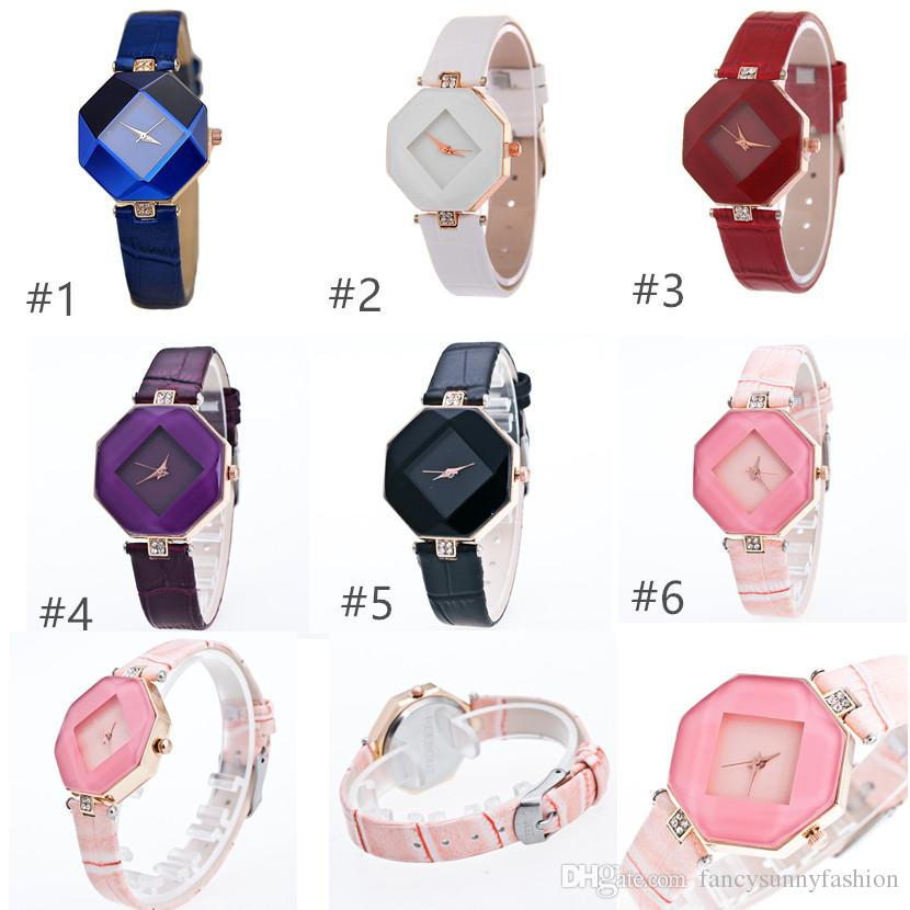 Fashion Quartz watches with leather band, Casual wristwatch for Girls Women, Women accessories Price Cheap + Good Quality, option