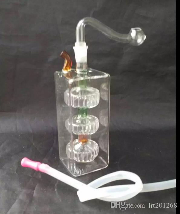 Fabricante de pneus de tubo quadrado - tubo de fumar hookah de vidro Gongos de vidro - plataformas de petróleo bongos de vidro tubo de fumar hookah de vidro - vaporizador vaporizador