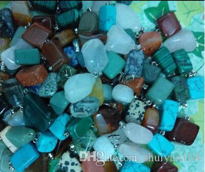Ciondolo in pietra naturale Ciondolo in pietra naturale di giada irregolare Collana in quarzo opale agata con pietra naturale NO CATENA