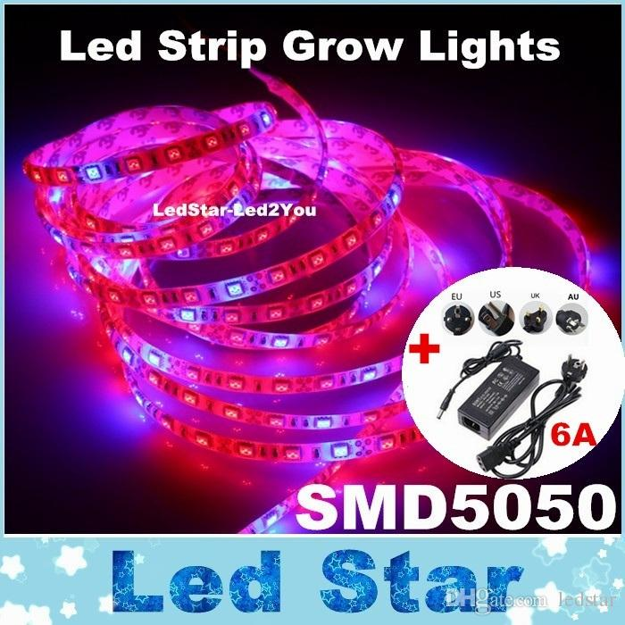 Smd5050 hydroponic systems led plant grow light waterproof led grow smd5050 hydroponic systems led plant grow light waterproof led grow strip light 300leds 74w full specture grow box power euauukus cheap led grow lights aloadofball Images