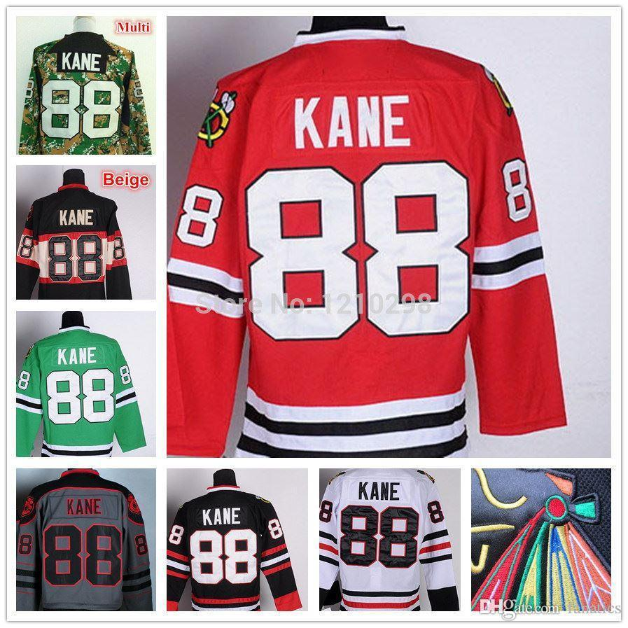 ... france 2018 2017 chicago blackhawks 88 patrick kane ice hockey jersey  home red white black green de3200410